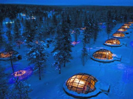 オーロラ、フィンランド、ガラスイグルー、時期、確率、ホテル、ブログ、場所、ツアー、服装、予報