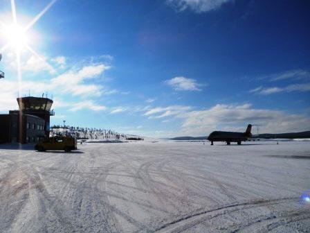 フィンランド トナカイ イバロ空港
