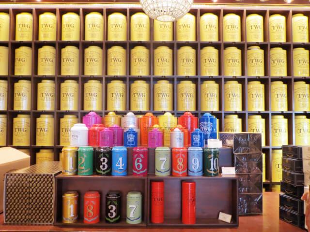 TWG 紅茶 ロンドン おすすめ レスタースクエア 缶