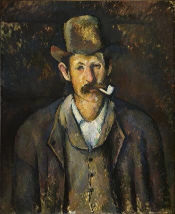 セザンヌ パイプを持つ男 コートルード美術館展