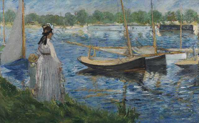 モネ アルジャントゥイユのセーヌ川岸 コートルード美術館展