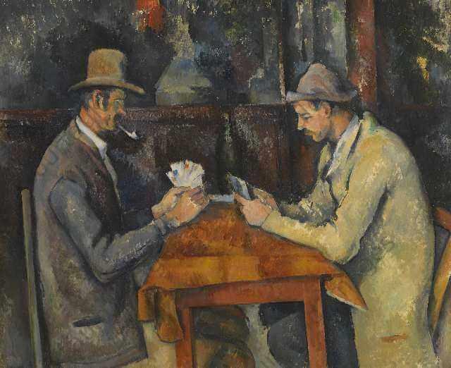 セザンヌ カード遊びをする人々 コートルード美術館展