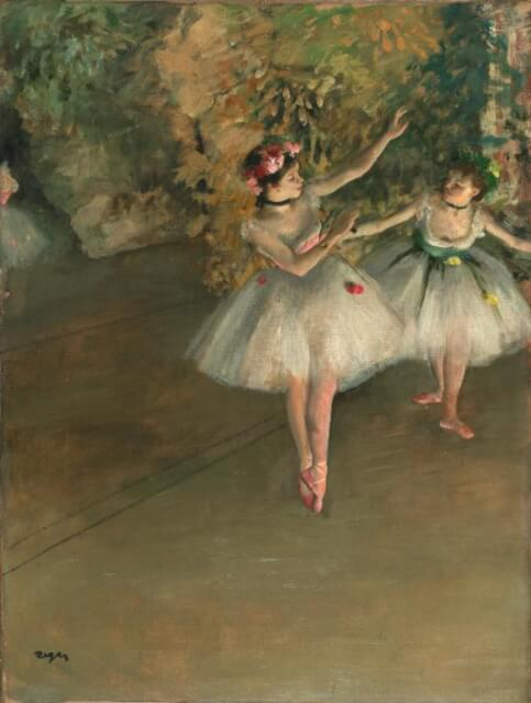ドガ 舞台の二人の踊り子 コートルード美術館展