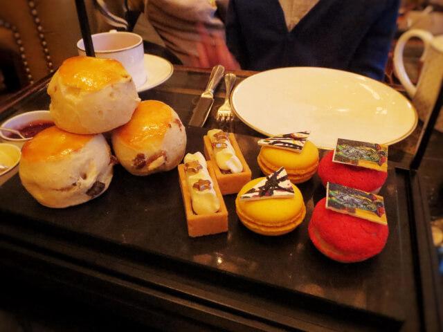 ローズウッドホテル、アフタヌーンティー、ロンドン、Rosewood-London, スコーンとお菓子